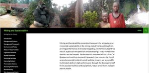 Mining and Sustainability web site
