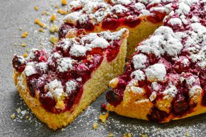 Piece of cherry cake