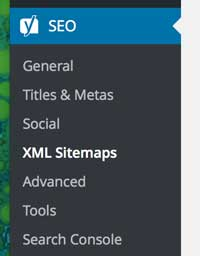 Where to find xml site map on wordpress website