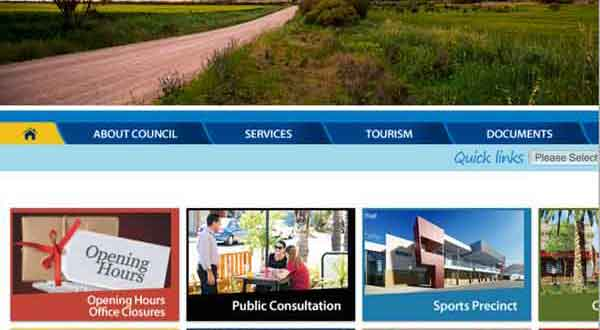 Port Pirie regional council web site is not responsive at the 800px size