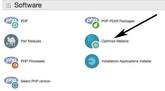 Optimise Website in the cPanel