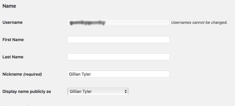 Screen shot of your profile where you can add a nick name.