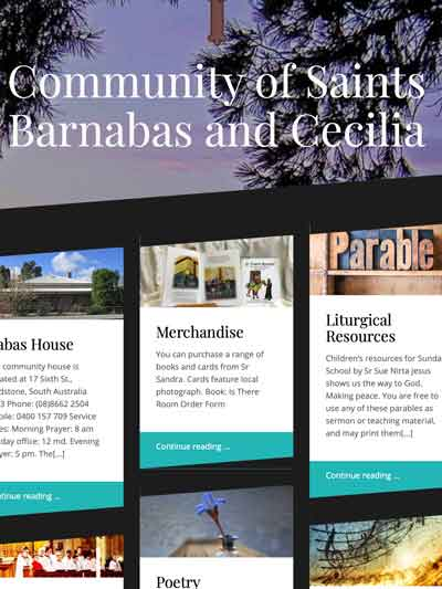 Community of saints Barnabas and Cecilia website
