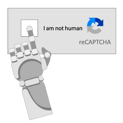Robot arm clicking on I am not human